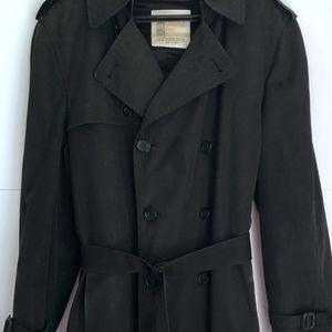 London Fog Classic Men's Trench Coat Black